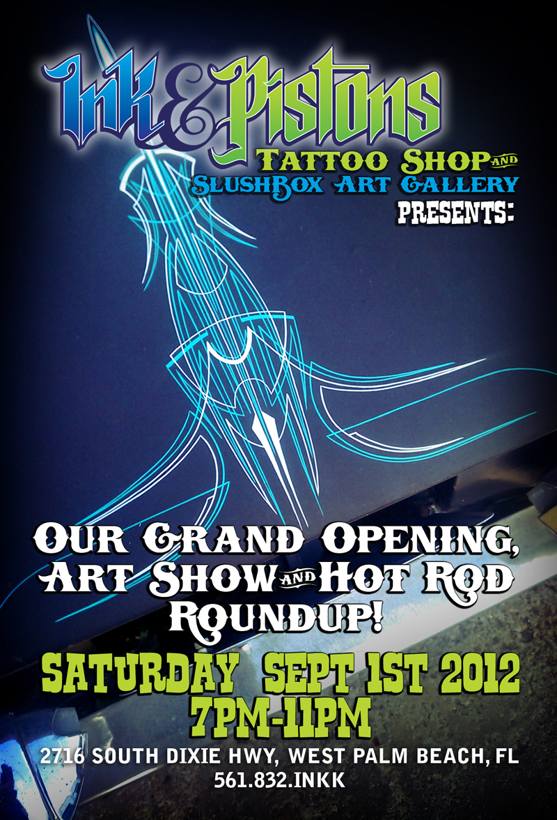 Our Grand Opening Art Show and Hot Rod Roundup!