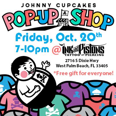 Johnny Cupcakes POP UP Shop