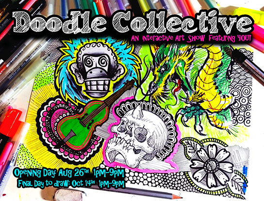 Doodle Collective an interactive art show featuring YOU!