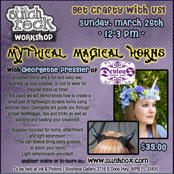 STITCH ROCK WORKSHOP Mythical Magical Horns with Georgette