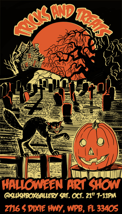 Tricks and Treats, a Halloween art show!